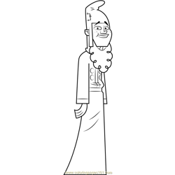 Leonard coloring page