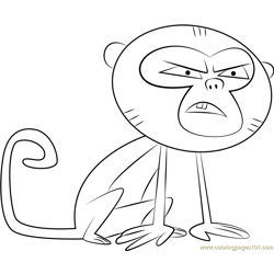 Monkey Free Coloring Page for Kids