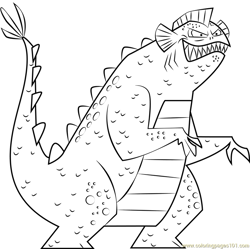 Monster Free Coloring Page for Kids