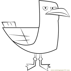 Seagull Free Coloring Page for Kids