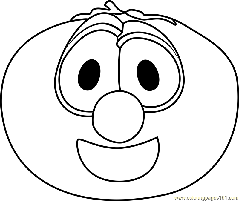 Bob the Tomato Coloring Page - Free VeggieTales Coloring Pages ...