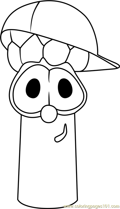 junior asparagus coloring page - Veggie Tales Coloring Pages