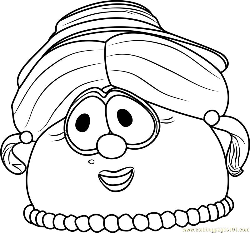 Madame blueberry coloring page free veggietales coloring for Veggie tales coloring pages
