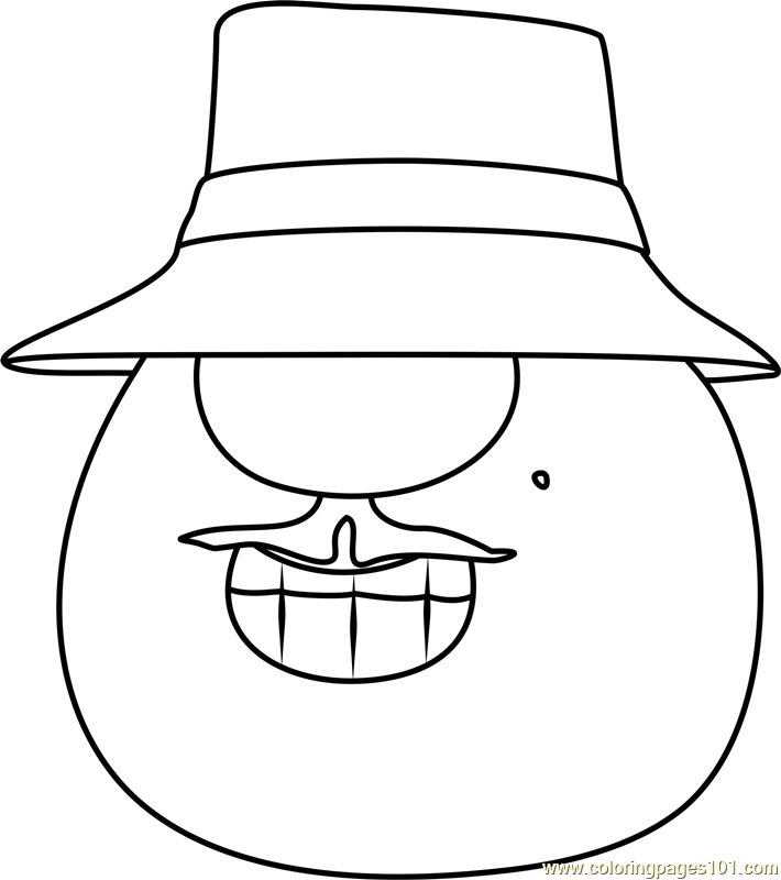 veggie tales madame blueberry coloring pages | Mr Lunt Coloring Page - Free VeggieTales Coloring Pages ...