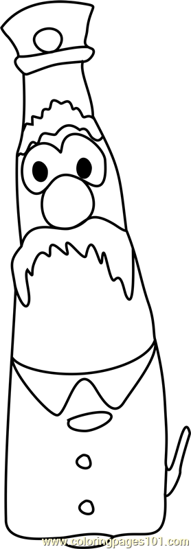 veggie tales madame blueberry coloring pages | Mr. Lunt Veggietales Coloring Page Coloring Pages