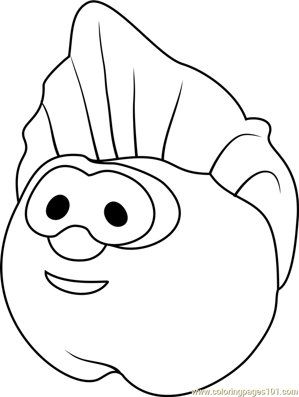 The Peach Coloring Page Free