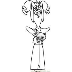Miss Achmetha coloring page