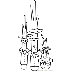 The Scallions Free Coloring Page for Kids
