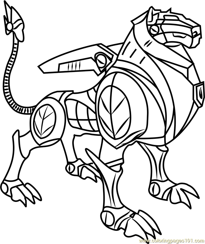 Black Lion Coloring Page Free