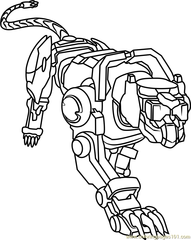 Blue Lion Coloring Page Free Voltron Legendary Defender