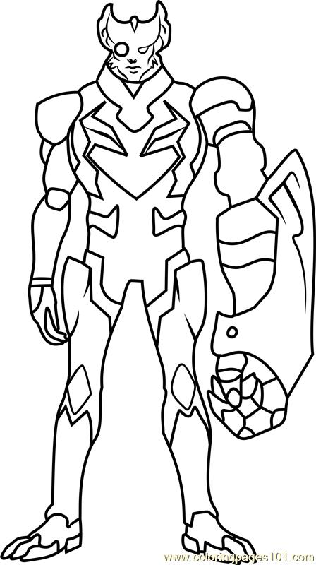 Commander Sendak Coloring Page Free Voltron Legendary
