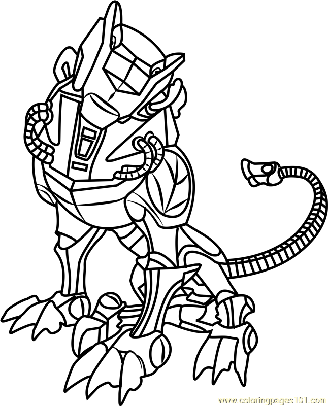 Green Lion Coloring Page