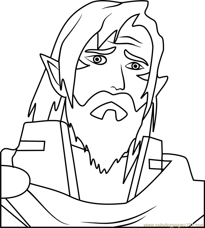 King Alfor Coloring Page