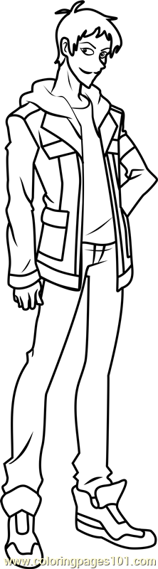 Lance Coloring Page Free Voltron Legendary Defender