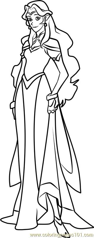 Princess allura coloring page free voltron legendary for Voltron coloring pages free