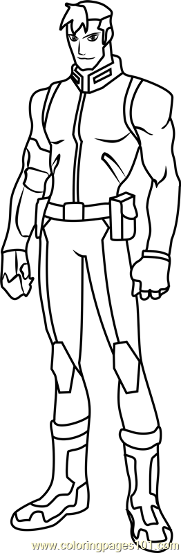 Shiro Coloring Page Free Voltron Legendary Defender