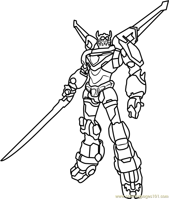 Voltron Coloring Pages Wonderful Page Intended Coloringpages101com