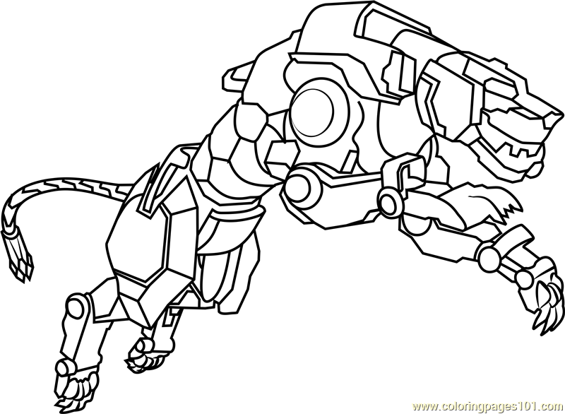 Yellow Lion Coloring Page Free