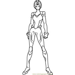 Allura with Helmet Free Coloring Page for Kids