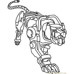 Blue Lion Free Coloring Page for Kids