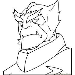Commander Prorok Free Coloring Page for Kids