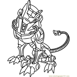 Green Lion Free Coloring Page for Kids