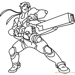 Hunk Free Coloring Page for Kids