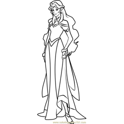Princess Allura Free Coloring Page for Kids