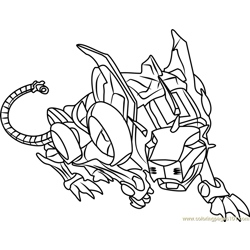 Red Lion Free Coloring Page for Kids