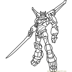 Voltron Free Coloring Page for Kids