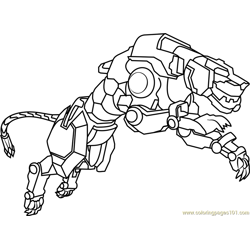 Yellow Lion Free Coloring Page for Kids