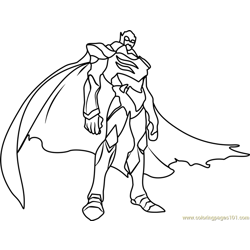 Zarkon Free Coloring Page for Kids
