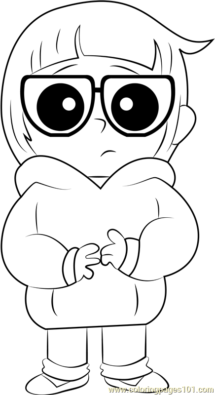 chloe park coloring page free we bare bears coloring pages