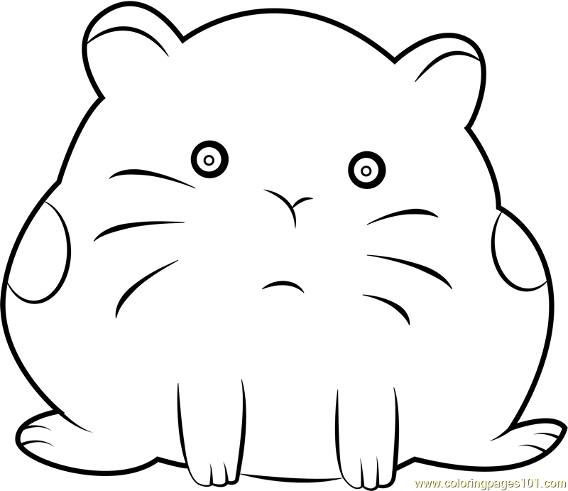 Hamster Coloring Page For Kids Free We Bare Bears Printable Coloring Pages Online For Kids Coloringpages101 Com Coloring Pages For Kids