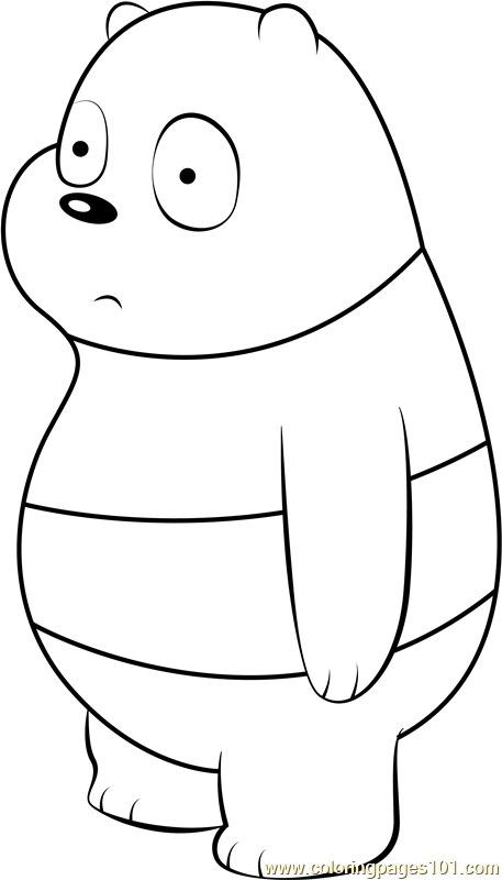 Panda Bear Coloring Page Free We Bare Bears Coloring