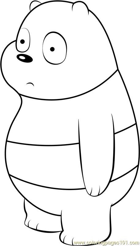 Panda Bear Coloring Page Free We Bare Bears Coloring