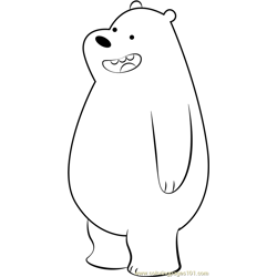Gizzly Bear Free Coloring Page for Kids