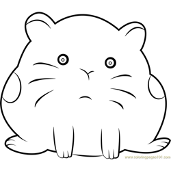 Hamster Free Coloring Page for Kids