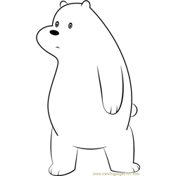 Ice Bear Free Coloring Page for Kids