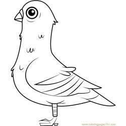 Liz Free Coloring Page for Kids