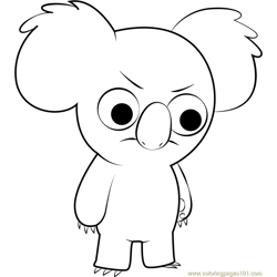 Nom Nom Free Coloring Page for Kids