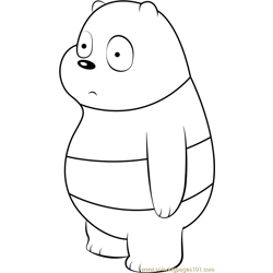 Panda Bear Free Coloring Page for Kids