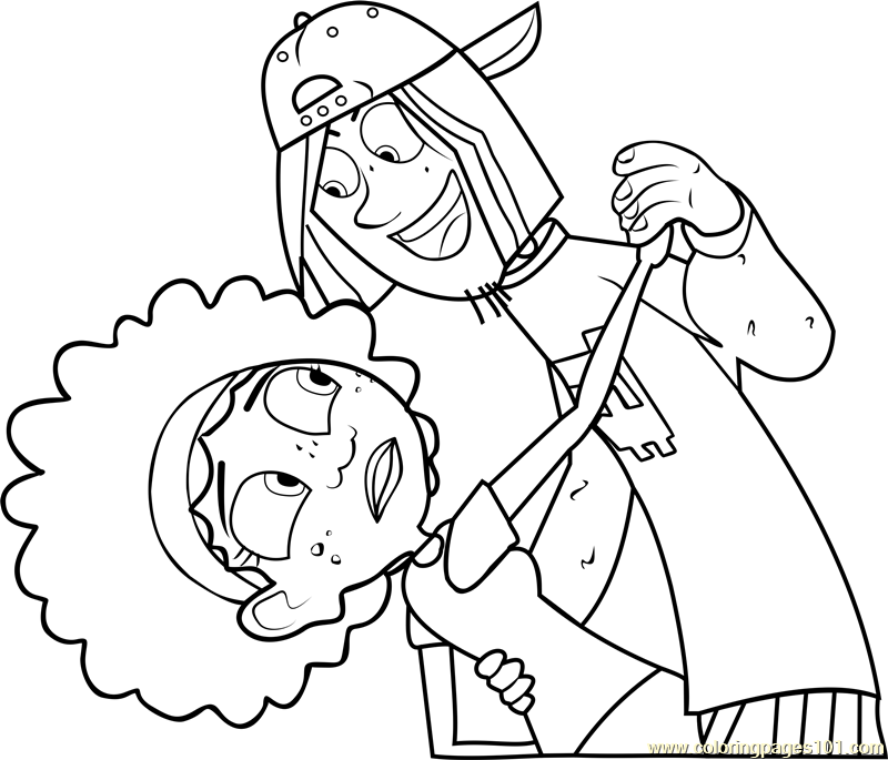 Jimmy Z with KOki Coloring Page Free Wild Kratts Coloring Pages