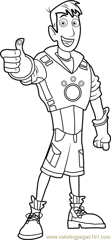 martin kratt coloring page - Wild Kratts Coloring Pages