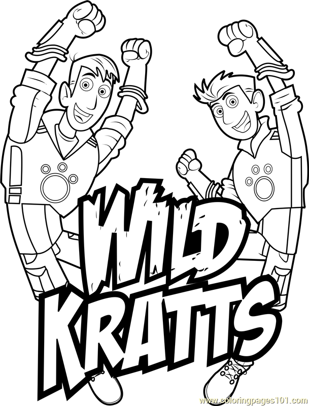 Wild Kratts Coloring Pages Pdf : Wild kratts logo coloring page free