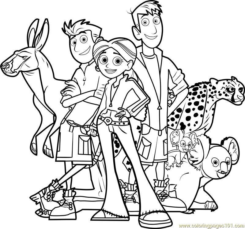 Wild Kratts Team Coloring Page Free Wild Kratts Coloring Pages