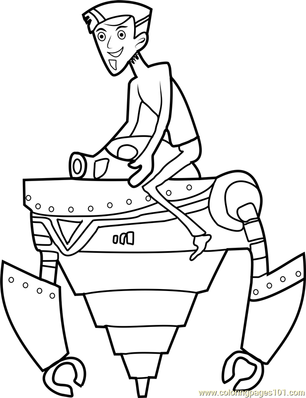 Wild Kratts Coloring Pages Pdf : Zachbots coloring page free wild kratts pages