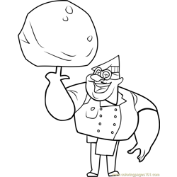 Gourmand coloring page