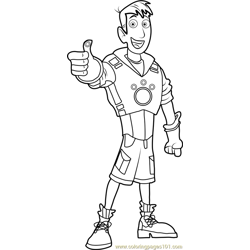 Martin Kratt Free Coloring Page for Kids