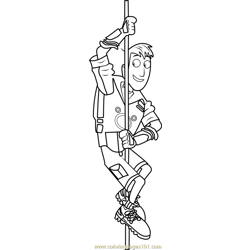 Martin Kratt on Pole coloring page